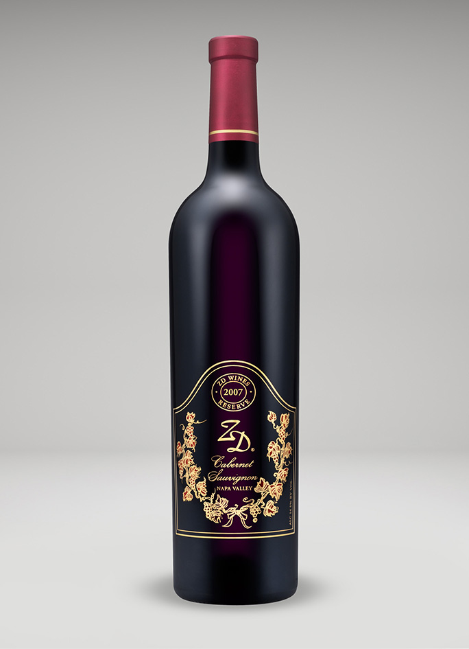 A bottle of 2007 Reserve Cabernet Sauvignon