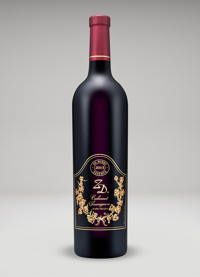 A bottle of 2013 Reserve Cabernet Sauvignon