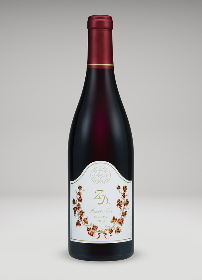 A bottle of 2013 Pinot Noir