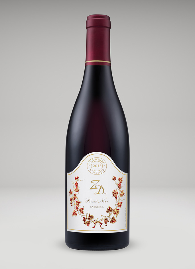 A bottle of 2012 Pinot Noir