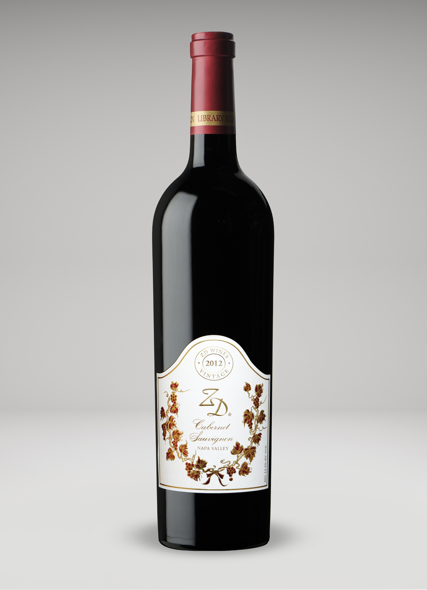 A bottle of 2012 ZD Cabernet Sauvignon, Napa Valley